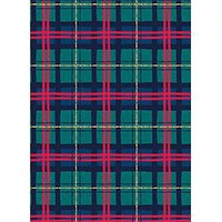 Plaid with Foil Continuous Roll Holiday Wrap
