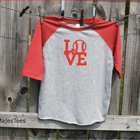 Love Baseball Shirt, Toddler, Kids