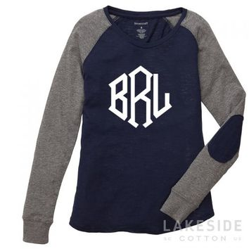Monogrammed Lightweight Raglan Shirt | Lakeside Cotton