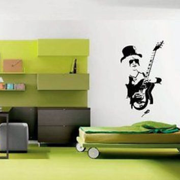 Rock R'n'R Rock Band Guitar Wall Art Sticker Decal Ar664