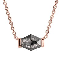 Black Geometric Diamond Elyse Necklace
