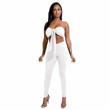 BANDEAU TOP & FITTED PANT SET