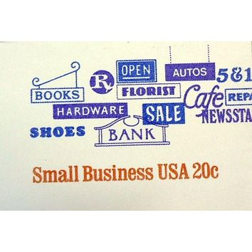 USPS Scott U606 20c Envelope Small Business Lot of 3 White Red Blue -- New