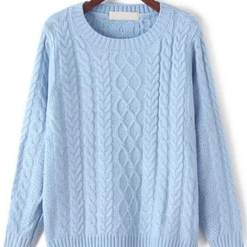 Light Blue Cable Knit Sweater from Trinity | Things I want as