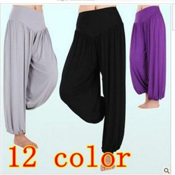 PEAPIX3 High waist new 2014 Women Harem Pants Yoga Modal Dancing Trouser Loose plus size sport pants = 1932712452