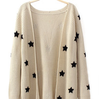 For The Night Cardigan in Beige - Cream / S/M