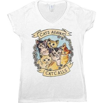Cats Against Catcalls -- Women's T-Shirt
