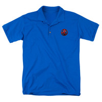 Justice League Of America Men's  Embroidered Patch Polo Shirt Blue Rockabilia