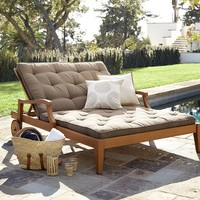Hampstead Teak Double Chaise - Honey