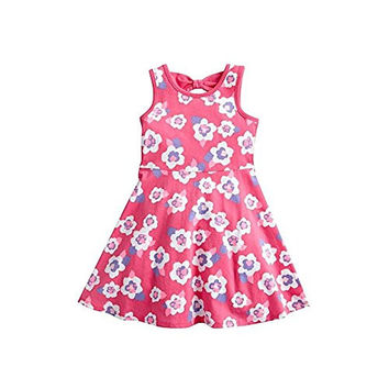 Pink Posies Floral Skater Dress for Girls Toddlers (3T)