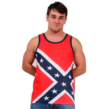 Confederate Rebel Flag Sleeveless Tank