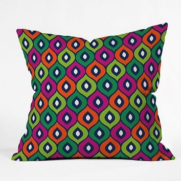 Aimee St Hill Leela Green Throw Pillow