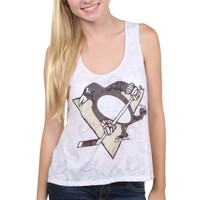 Pittsburgh Penguins Women's White Sublime Flare Tank Top