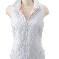 Womens Quilted Vest | Buy Discount Devon & Jones Pink Quilted Vest