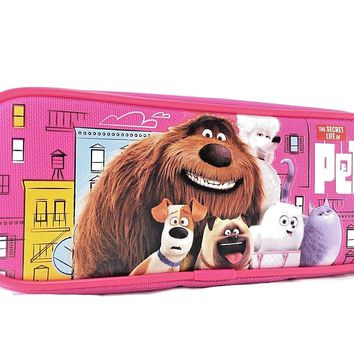 "Disney The Secret Life Of Pets  8"" Pink Pencil Case"