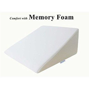 "InteVision Foam Wedge Bed Pillow (25"" x 24"" x 12"") with"