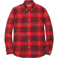 Supreme: Tartan Flannel Shirt - Red
