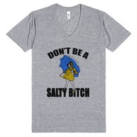 salty bitch vneck-fly-Unisex Athletic Grey T-Shirt