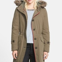Women's Treasure&Bond Utility Parka with Faux Fur Trim