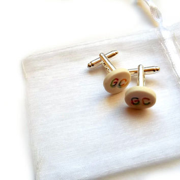 Personalised Cufflinks - Custom Cufflinks - Valentines Day Gift for Him