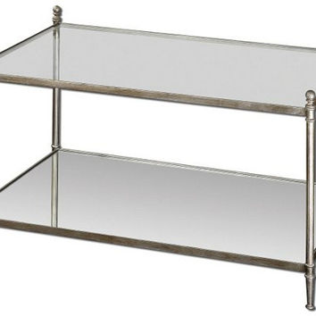 Uttermost Gannon Mirrored Glass Coffee Table - 24281