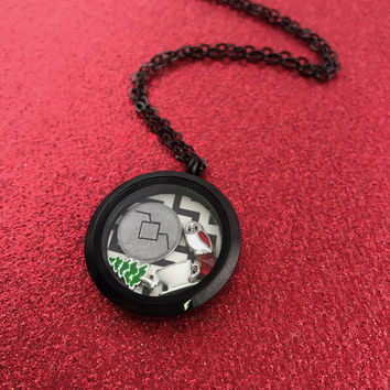 Twin Peaks Floating Locket Necklace