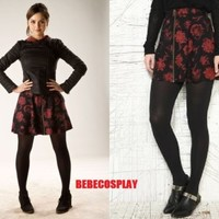 Urban Outfitters Silence + Noise Carnation Skirt Clara Oswald Doctor Who Cosplay