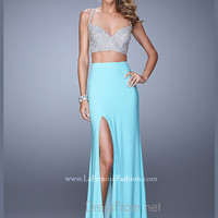 La Femme Crop Top Sexy Prom Dress 21279