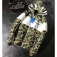 Adidas + Bape Shark Fashion Zipper Cardigan Jacket Coat Windbreaker Hooded