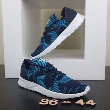 Adidas ZX Flux ADV Virtue. White & Blue Unisex Running Shoes Sneakers