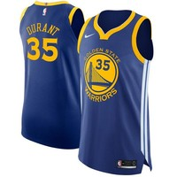 Kevin Durant Golden State Warriors # 35 Nike Blue Authentic Icon Edition Jersey - Best Deal Online