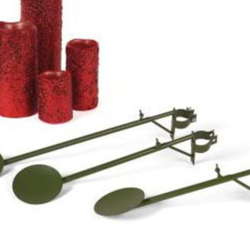 9 Candle Display Arms - Arms Also Feature Taper Candle Cupseach Arm Is Adjustable In Length And Features A Smooth Green Finish