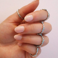 Barbed wire ring, silver barbed wire, gold barbed wire