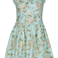 ROMWE | Zippered Green Floral Dress, The Latest Street Fashion