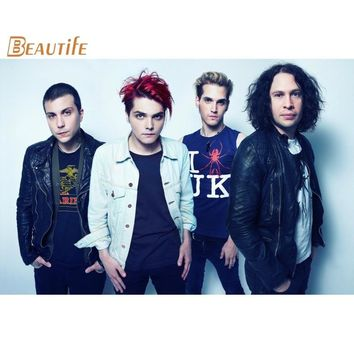 New Arrival my chemical romance poster Cloth Silk Poster Home Decoration Wall Art Fabric Poster Print 40x60cm,50X75cm,60X90cm