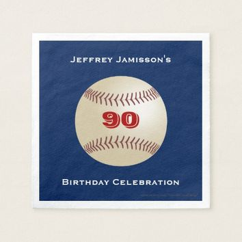 Baseball Paper Napkins, Birthday Party, Any Age Paper Napkin