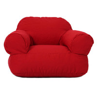Ella Perfect Red Twill Bean Bag Arm Chair | Overstock.com