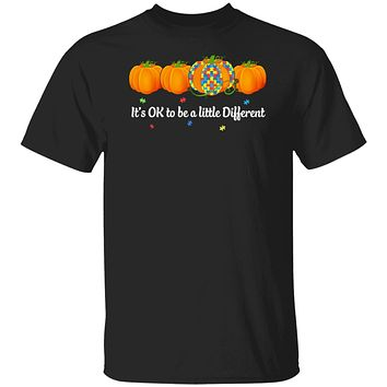 Halloween Autism Pumpkin It's OK To Be A Little Different