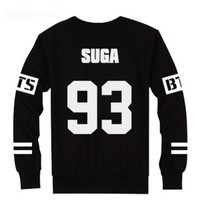 BTS Bangtan Boys Black Hoody Sweater Pullover