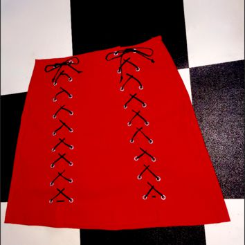 SWEET LORD O'MIGHTY! THE XTINA SKIRT IN RED