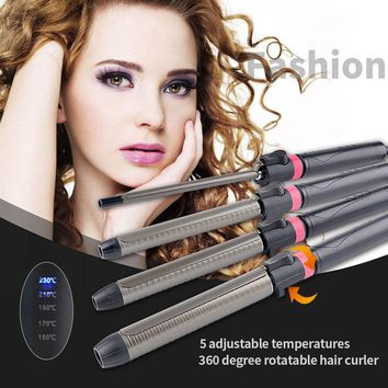 CkeyiN 9-32MM Deep Curly Hair Styler Curls Ceramic Curling Iron Wave Machine Pro Spiral Magic Hair Curlers Rollers Curling Wand