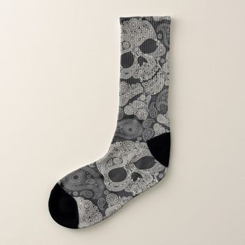 Sugar Skull Pattern All-Over-Print Socks