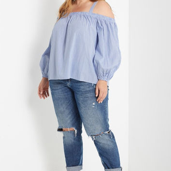 James Balloon Sleeve Top Plus Size