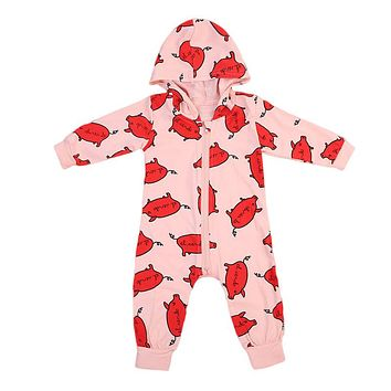 Cotton Newborn Infant Baby Boys Girls Long Sleeve Romper New Arrival Summer Newborn Cute Kids Outfits