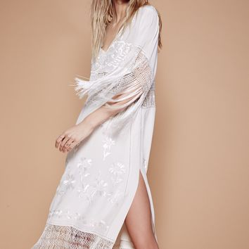Free People Ella Fringe Midi Dress