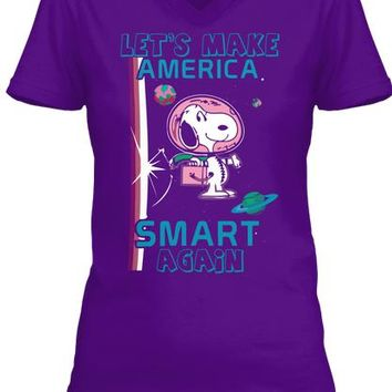 Lets Make America Smart Again T Shirt