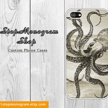 Octopus iPhone Case, Steampunk Octopus Cell Phone Case, Kraken - for iPhone 4/4s/5/5s/5c, Galaxy S2/S3/S3mini/S4/S4mini/note2/note3