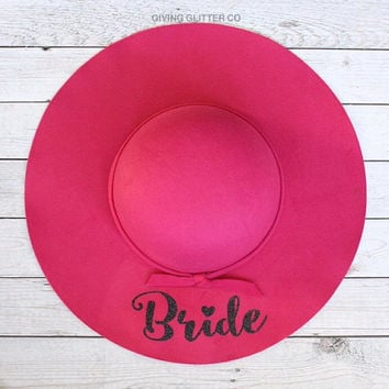 Bride // Floppy Hat - Cute Hat - Custom Hat - Bride To Be Hat - Bachelorette Party Hat - Wine Tasting Bachelorette - Font B