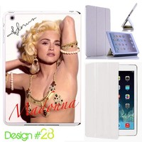 Custom # 28 IPad Air Smart Cover Madonna Leather Magnetic case