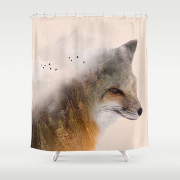 Fox in Forest #society6 #buyart #decor #artprint Shower Curtain by Creativeaxle